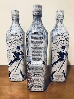 White Walker by Johnnie Walker Game of Thrones GOT Pack of 3 Bottles LIMITED