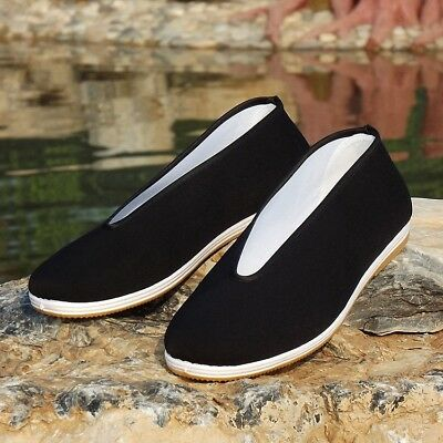 Mens Kung Fu Shoes Chinese Traditional Canvas Cloth Working Flat Casual Loafers