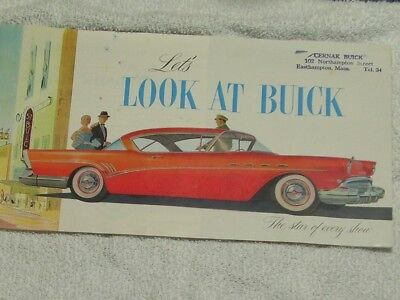 1957 Buick sales brochure, 20 pages, from Buick dealer in 1957, free shipping