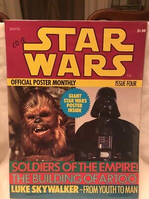 Vintage Star Wars Official Poster Monthly # 4 Star Wars Book Issue Four