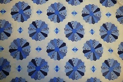 """Vintage dresden plate cotton fabric, priced per 1/2 yard, 92"""" wide"""