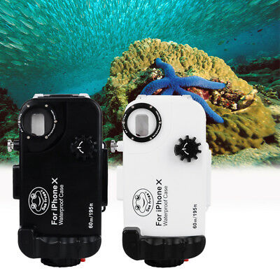 Seafrogs Waterproof 60m/195ft Underwater Diving Phone Cover Case for iPhone X XS