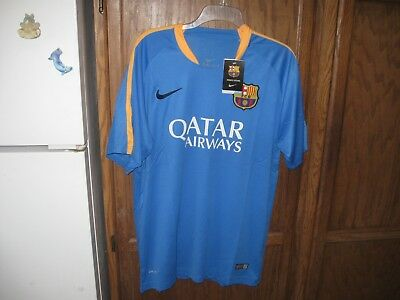 FC BARCELONA JERSEY FCB NIKE DRI-FIT SOCCER Shirt vtg Football Futbol MEN  XL NWT d2855ef93