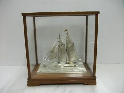 The sailboat of Silver of Japan. 2masts. #123g/ 4.33oz. Japanese antique