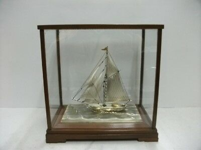 The sailboat of Sterling Silver of Japan. #103g/ 3.63oz. Japanese antique