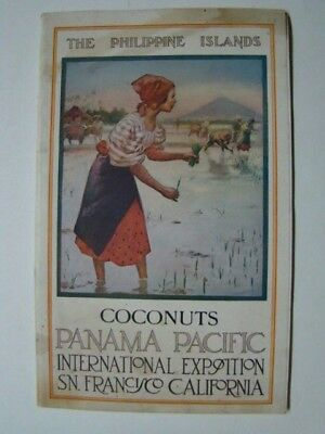 1915 Panama Pacific Int Expo Philippine Islands Coconuts Booklet San Francisco