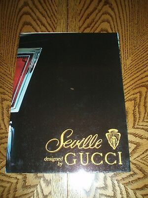 """RARE ORIGINAL 1979 """"CADILLAC DESIGNED BY GUCCI"""" SALES BROCHURE - 4 Page Fold Out"""
