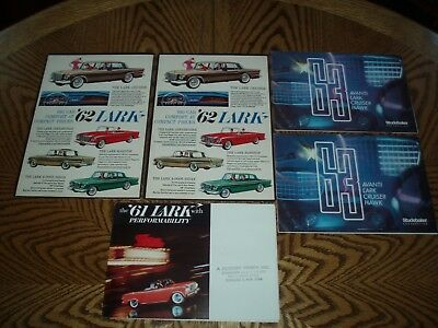(5) ORIGINAL 1961-1963 STUDEBAKER LARK SALES BROCHURES - Nice Condition