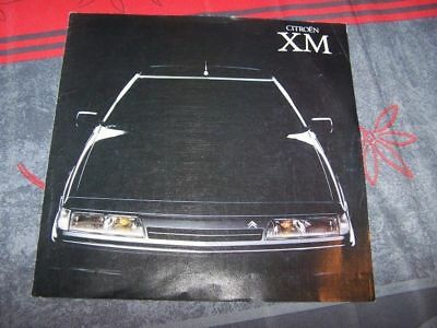 01 -  Prospekt/Prospectus/Brochure/Catalogue Citroen XM 1989