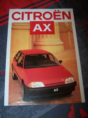 09 - Prospekt/Prospectus/Brochure/Catalogue Citroen AX 1986