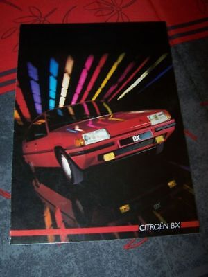 0C - Prospekt/Prospectus/Brochure/Catalogue Citroen BX 1986