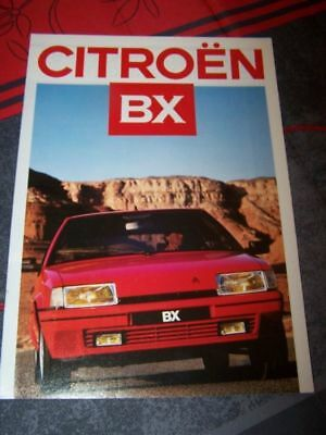 0D - Prospekt/Prospectus/Brochure/Catalogue Citroen BX 1987