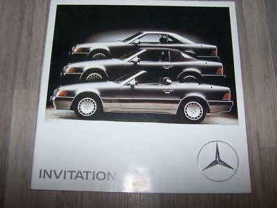 0E - Prospekt/Prospectus/Brochure/Catalogue Mercedes benz Invitation