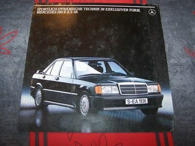 0H - Prospekt/Prospectus/Brochure/Catalogue Mercedes benz 190 E 2.3-16