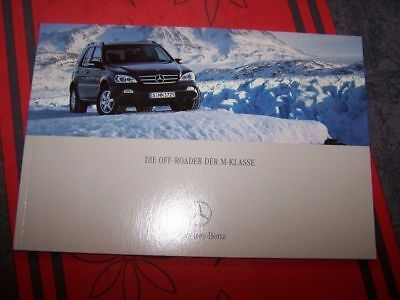0T Prospectus/Brochure/Catalogue Die Off Roader der M-Klasse Mercedes benz 2001
