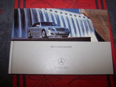 0X - Prospectus/Brochure/Catalogue The S-Class Saloons Mercedes benz 2002