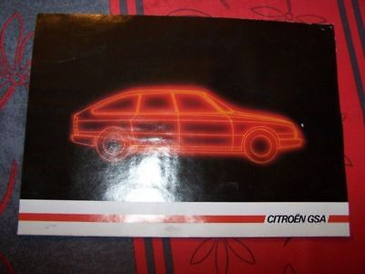 19 - Prospekt/Prospectus/Brochure/Catalogue Citroen GSA 1985
