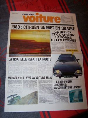 1J - Prospekt/Prospectus/Brochure journal citroen Voiture 1980 GSA Mehari