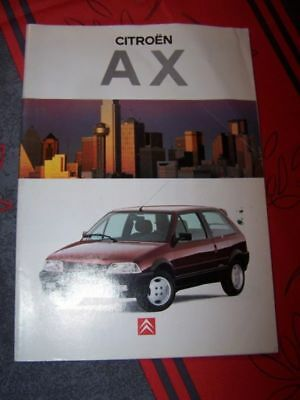 1K - Prospekt/Prospectus/Brochure/Catalogue Citroen AX