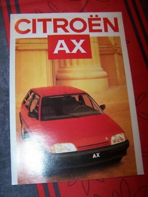 1M - Prospekt/Prospectus/Brochure/Catalogue Citroen AX 1986