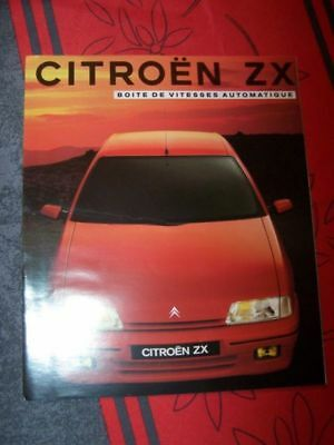 2C - Prospekt/Prospectus/Brochure/Catalogue Citroen ZX Automatique 1992