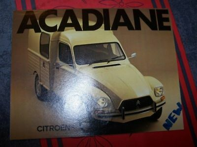 2H - Prospekt/Prospectus/Brochure/Catalogue Citroen ARCADIANE 1978