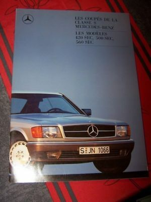 AQ - Prospekt/Prospectus/Brochure/Catalogue Mercedes benz Classe S Coupe 420 500