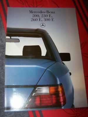 B2 - Prospectus/Brochure/Catalogue Mercedes benz 200 230 260 300 E 1985