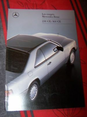 B3 - Prospectus/Brochure/Catalogue Coupe mercedes benz 230 300 CE W124 1989