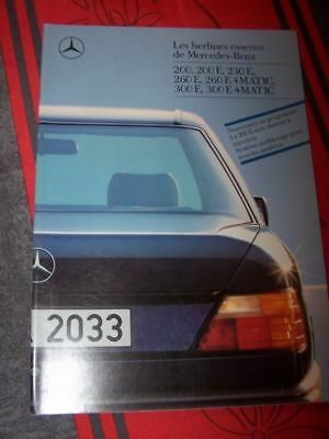 B4 - Prospectus/Brochure/Catalogue Mercedes 200 230 260 300 E MATIC E4 1988