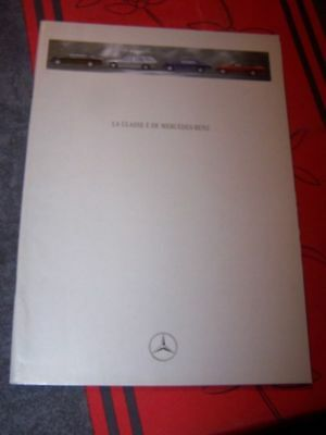 B8 Prospectus/Brochure/Catalogue Mercedes benz classe E 1993 Coupe Cabriolet 320