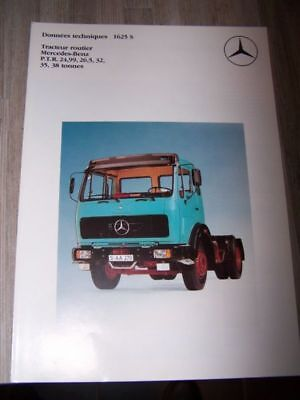 C6 - Prospectus/Brochure/Catalogue Mercedes racteur routier 1625 S