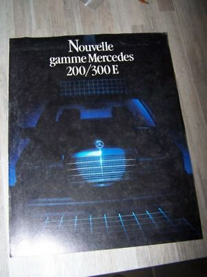 CN - Prospectus/Brochure/Catalogue Mercedes benz gamme 200/300 E 200E 300E