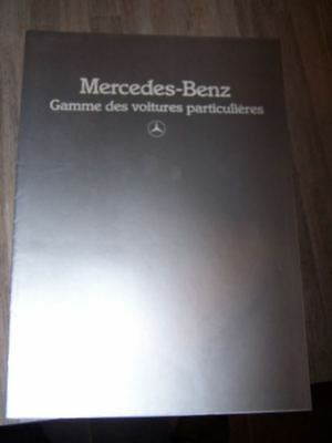 CS Prospectus/Brochure/Catalogue Mercedes gamme 190 200 230 260 300 D E Coupe