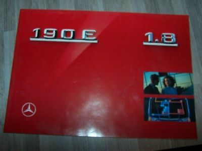 CY - Prospekt/Prospectus/Brochure/Catalogue Mercedes 190E 1.8 1990