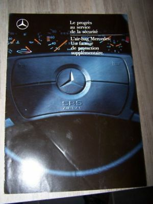 D0 - Prospectus/Brochure/Catalogue Mercedes benz Securite Accessoire Airbag 1989