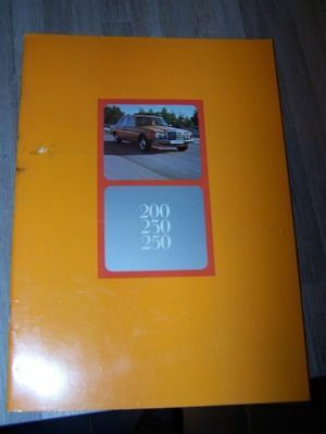 D3 - Prospectus/Brochure/Catalogue Mercedes benz 200 230 250 W123 1975