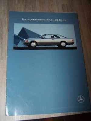 D9 Prospectus/Brochure/Catalogue Mercedes benz Coupe 230CE 230 CE 500 CE-24 1990