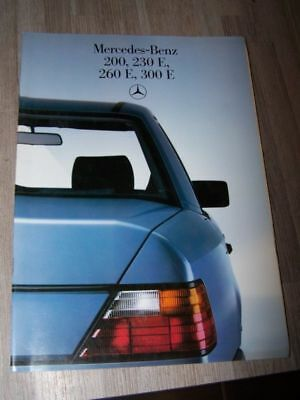 DF - Prospectus/Brochure/Catalogue Mercedes benz 200 230 260 300 E W124 1984