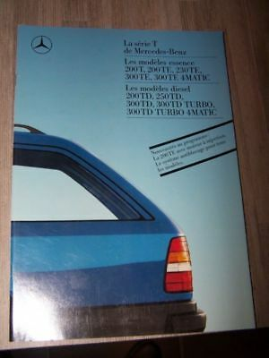 DG - Prospectus/Brochure/Catalogue Mercedes benz serie T/TE/TD 200 230 300 250