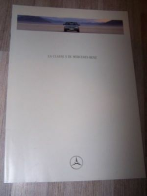 DL - Prospectus/Brochure/Catalogue Mercedes classe S 1992