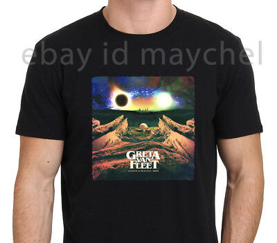 GRETA VAN FLEET Anthem of the peaceful army Poster Men's Black T-Shirt Sz S-2XL