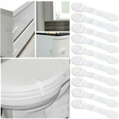 10 Pcs Child Infant Baby Kids Drawer Door Cabinet Cupboard Toddler Safety Locks