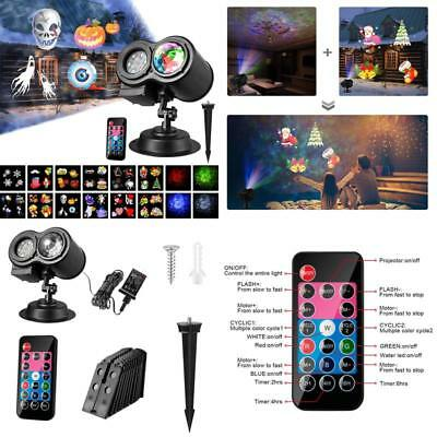 Halloween Projector Lights, Water Wave Projector Light With 12 Slides Pattern 2