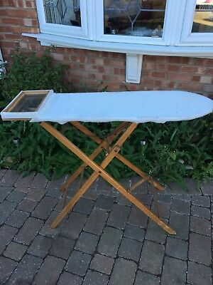 Old Authentic Original Vintage Or Antique Wooden Ironing Board