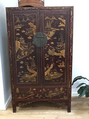 Antique Chinese Oriental Shanxi Scholar's Cabinet, Newcastle