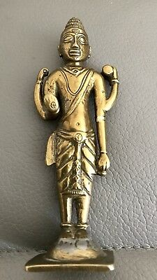 Standing Four Arm Shiva Solid Brass Figure 12cm High