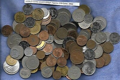 World Bulk Lot of 600gm Coins (approx 130 Coins)