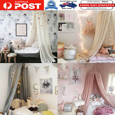 Lovely Baby Mosquito Net Canopy Curtain Round Crib Room Bedroom Decoration
