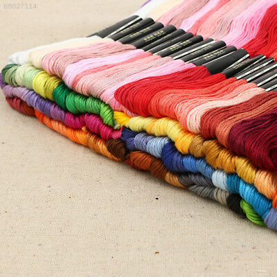 0E0B Lots 50 Multi Colors Cotton Cross Stitch Thread Embroidery Sewing Tool